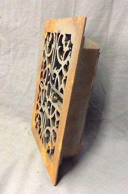 Antique Cast Iron Decorative Heat Grate Floor Register 8X10 Vintage Old 13-19D 5
