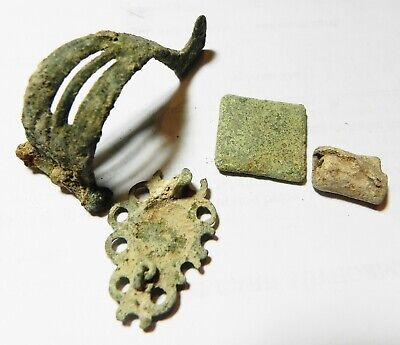 Zurqieh - As13348-  Ancient Holy Land.  Lot Of Roman Bronze Relics. 200 - 300 A. 3