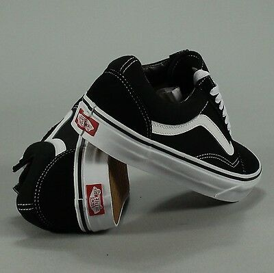 VANS OLD SKOOL Trainers Shoes BlackWhite in UK Sizes 4,5,6,7,8,9,10,11,12,13
