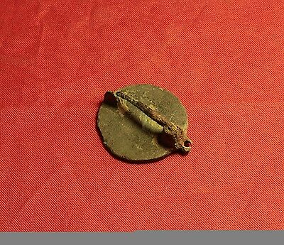 Ancient Roman Enameled Disc Fibula or Brooch, 3. Century 2