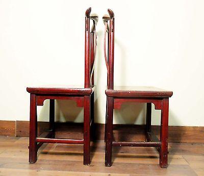 Antique Chinese High Back Chairs (5473) (Pair), Circa 1800-1849 4