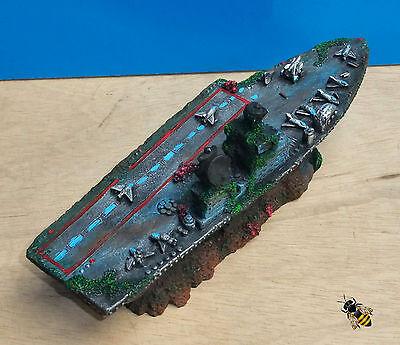 Aquarium Ornament Aircraft Carrier Shipwreck Battle Ship Fish Tank Cave Hide 4