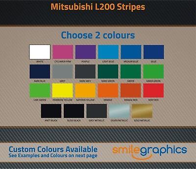 Mitsubishi L200 Personnalisé Affaire Couleur avec Société Logos - Tout Modèle 2