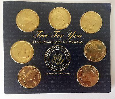 Un Monedas Historia U. S. Presidentes 19 Menta en Latón Macizo el Álbum Incluido 3
