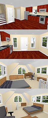 PDF Floor Plan Model 4C 574 sq ft 16x20 Tiny House