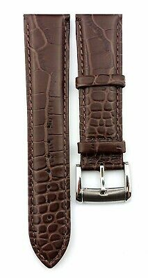 Brown 22mm Genuine Leather Strap/Band fit EMPORIO ARMANI watches + Pins and Tool 2