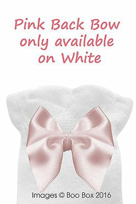 Baby Girls & Girls Pex Knee High Satin Ribbon Bow Socks UK NB(EU15)-7(EU40) 3