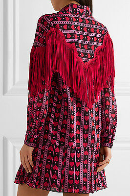 ...  795 ANNA SUI Fringe Printed Silk Mini Dress Size 4 JISOO BLACKPINK  Net-a- 5e4624f8d