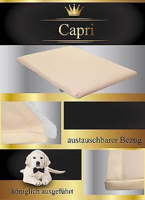 """Hundematte Hundebett Hundekissen Katze Kunstleder """"CAPRI"""" 3 Größen FORTISLINE"""