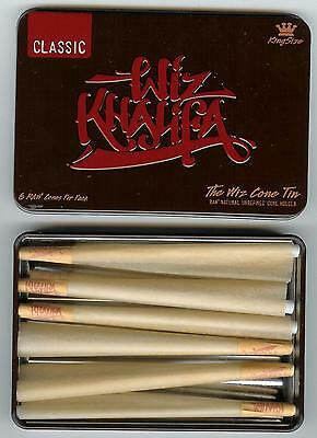 RAW Rolling Papers CONE LOADER +Wiz Khalifa CONE Storage TIN +6 King Size CONES 2