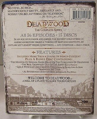 Deadwood - The Complete Series (Blu-ray Disc, HBO, 13-Disc Set) New 2