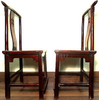 Antique Chinese High Back Chairs (5639) (Pair), Circa 1800-1849 12
