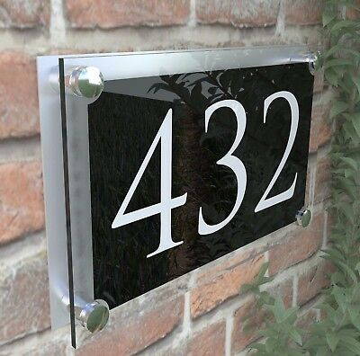 Large Contemporary House Sign Plaques Door Number 1 - 999 Address door numbers 6