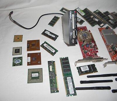 Lotto Stock 40 Pezzi Pc Laptop Schede Video Rete Memoria Processori Antenne 3
