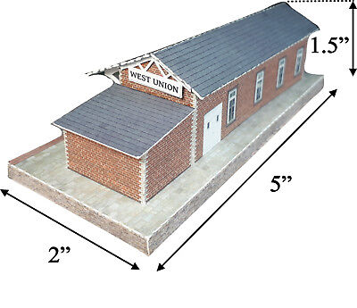 N Scale Building - Passenger Station (Cover Stock PRE-CUT Paper Kit) ST2 2