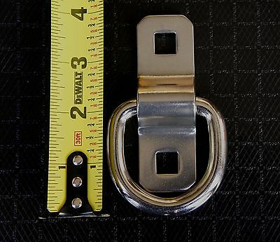 New 3//8 Steel D Ring /& Bracket TIE Down Rope Chain for Snowmobile Boat ATV Quad