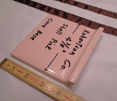"""Glossy *Shell Pink* 4"""" X 4"""" Ceramic Cove Base Outside Corner Tile-stack-on 1 pc"""