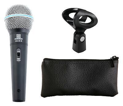 DJ PA Gesangs Live Mikrofon Set Mikrophon Ständer Klinke Mikro Kabel Mic Klemme 8