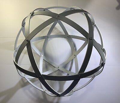 Genesa Pentasfera diametro 31 cm satinato argento profilo 1,5 cm + ciondolo 5