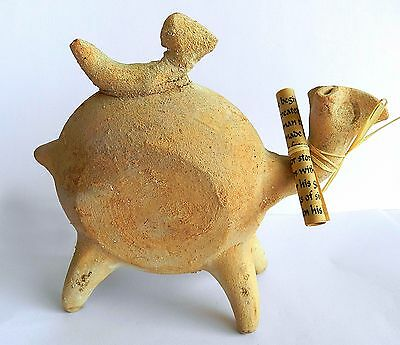 Ancient biblical Iron Age Camel Zoomorphic Roman Byzantine Pottery Clay Statue 6