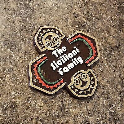 PERSONALIZED POLYNESIAN OHANA Themed Family Last Name Sign / Plaque ( Tiki )