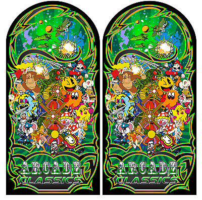 Mame Multicade Classics Side Art Arcade Cabinet Graphics Decals Stickers Set 4