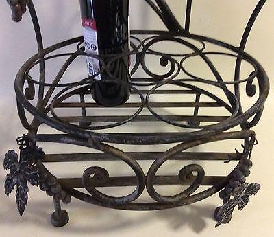 Decorative 7 Bottle/4 Glass Steel Wine Rack