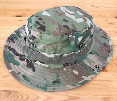Multicam Boonie Hat US Army Woodland BDU Jungle Sun Cap Military 1 Size Fits All 2