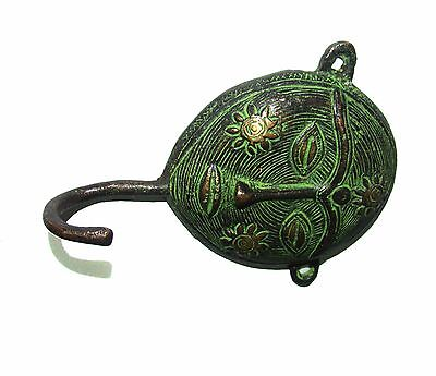 A set of 5 Brass made attractive WOMAN FACE DESIGNED COAT HOOKS  from India 2