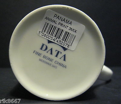 A Set Of Six 6 Data Animal Prints Panama Fine Bone China Mugs Cups To Clear 6