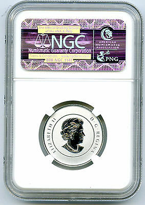 2014 $20 Canada Silver Summertime Ngc Sp70 First Releases Blue Label 1/4 Ounce 2