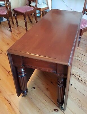William IV dining table & chairs antique 10