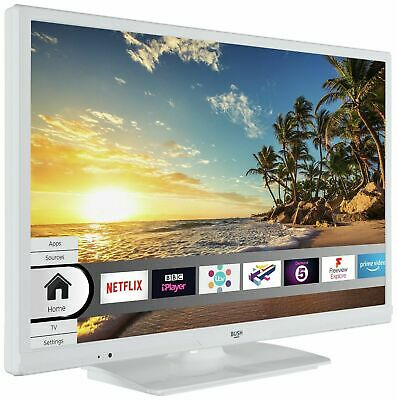 Bush 24 Inch Smart HD Ready TV / DVD Combi LED White ELED24HDSDVDW WiFi Built In 2