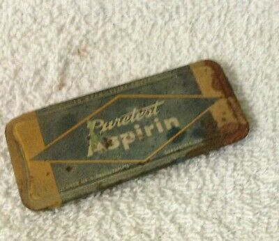Antique Tin, Puretest Aspirin, Rexall Drug Stores, made by United Drug 2