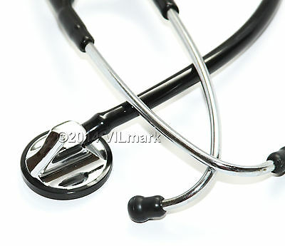 Professional Cardiology Stethoscope Black, 14a Life Limited Warranty
