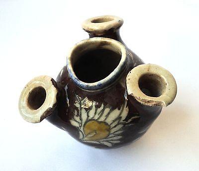 1800's Antique Trio Spouts Persian Vase , Handpainted Ceramic Islamic Art 4