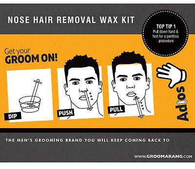 Groomarang Adios Nez Oreille Épilation Cire Kit Indolore & Facile Homme Nasal 4