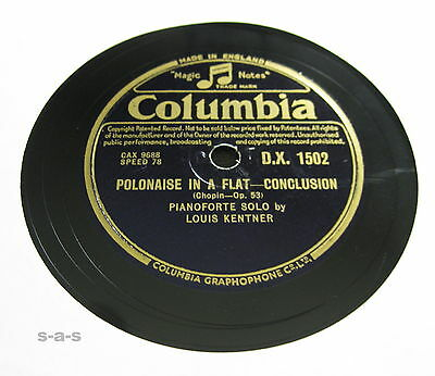 "Nice Price: Louis Kentner - ""Polonaise in A Flat"" (Chopin) 1&2 COLUMBIA (017)"