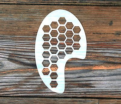 Honeycomb Design Face Painting Stencil approx 12cm x 8cm Washable