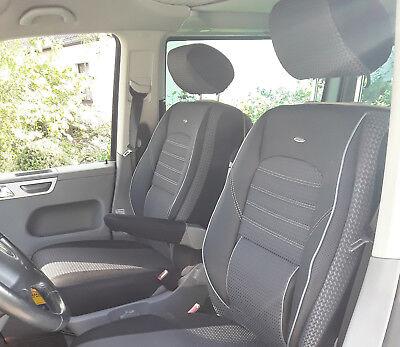 Universal Autositzbezüge Schwarz für Mercedes Vito W639 bis 14 BUS 1+2 Sitzbezug