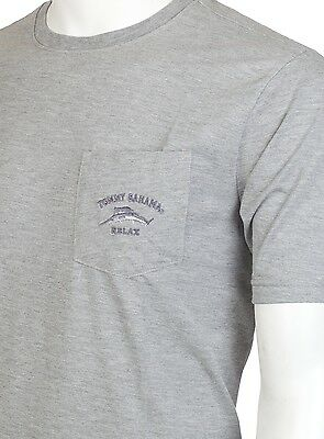 TOMMY BAHAMA Men T-Shirt BALI HIGH TIDE POCKET Relax ORANGE Embroidered M-XL $48