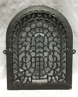 One Antique Arched Top Heat Grate Grill Stars Flowers Pattern Arch 11X14 635-18C 5