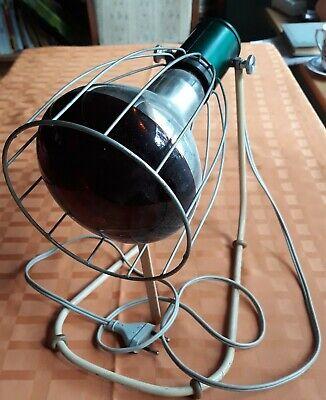 Rotlichtlampe aus Glas von 1940 Wärmelampe Strahler / gebraucht und funktioniert 2