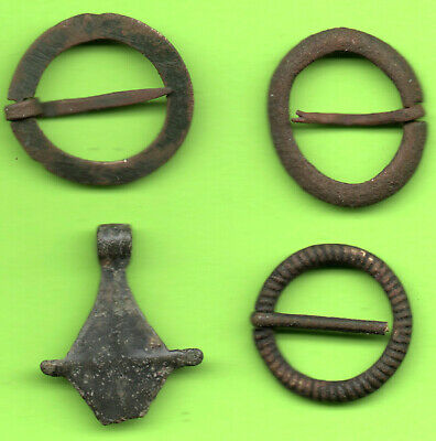 Lot 4 Ancient Viking Enamel Bronze Cross Kiev Russia Ukraine 1100 Byzantine 61 2