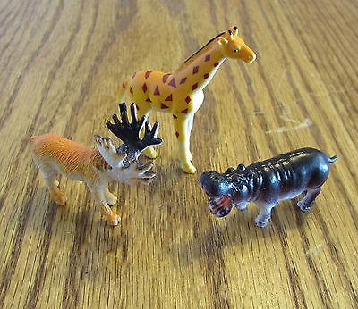 New 12pcs Plastic Zoo Figure Jungle Wild Animals Farm Kids Fun Toy Game Gifts Y2