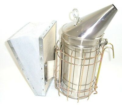 Beekeeping Tool Package : Stainless Steel Smoker, Red Hive Tool & Bee Brush