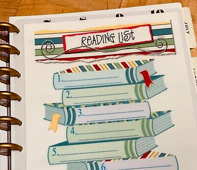 Planners & Organizers Book Reading Two Sided Dashboard Insert for ...