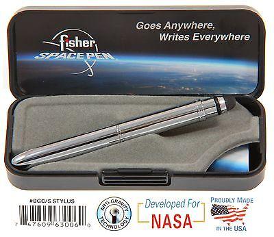 Fisher Space Pen #BGC/S - Chrome Bullet Grip Pen with Conductive Stylus Point 5