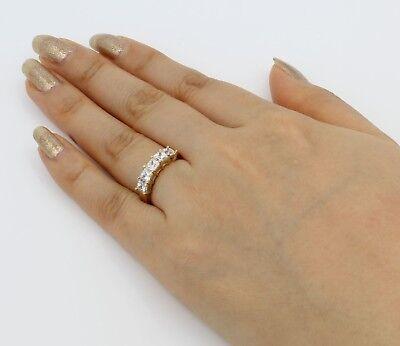 1.5 Ct 14K Yellow Gold 5 Stone Square Princess Cut Wedding Anniversary Ring Band