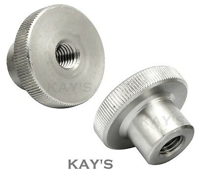Knurled Thumb Nuts Stainless Steel Hand Grip Knobs M2 M2.5 M3 M4 M5 M6 M8 M10 3